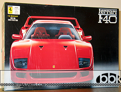 FUJIMI 1/12 RED FERRARI F40 HYBRID METAL & PLASTIC INJECTION