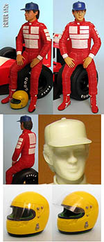 GF MODELS 1/12 DRIVER FIGURE SENNA SEATED for McLAREN MP4/6 MP4/4