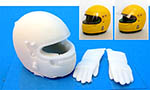 GF MODELS 1/12 SENNA RHEOS HELMET McLAREN MP4/6 & GLOVES