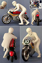 GF MODELS 1/12 MIKE HAILWOOD DRIVER FIGURE 1961 HONDA RC166 RC162