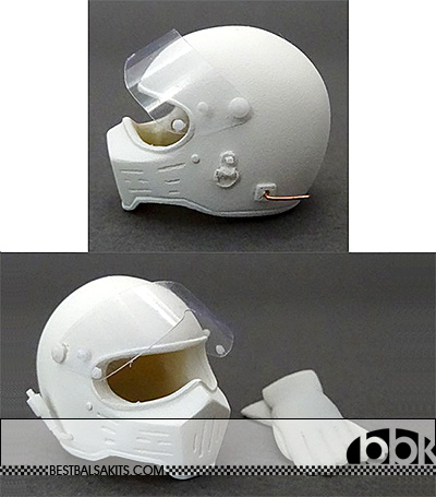 GF MODELS 1/12 SIMPSON M30 HELMET with GLOVES for HUNT ANDRETTI
