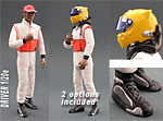 GF MODELS 1/20 LEWIS HAMILTON F1 DRIVER FIGURE WALKING DEPICTING