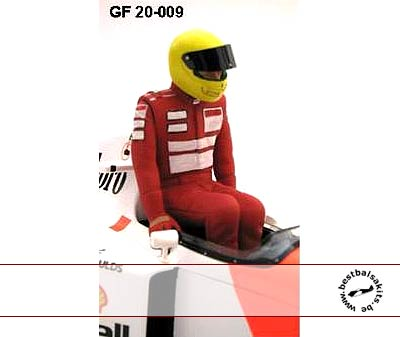 GF MODELS 1/20 SENNA DRIVER FIGURE MP4/XX DRIVER PUSHING OUT