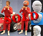 GF MODELS 1/20 80's 90's DRIVER SECURING HELMET for TAMIYA FUJIMI