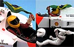 GF MODELS 1/20 SENNA TAKING FLAG FOR A RIDE FIGURE TAMIYA FUJIMI
