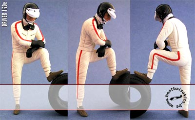 GF MODELS 1/20 1/20 60s DRIVER STEPPING IN/OUT TAMIYA LOTUS 25