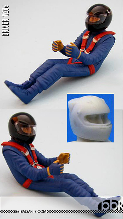 GF MODELS 1/20 FW13 FW24 DRIVER SEATED DEPICTING BOUTSEN PATRESE