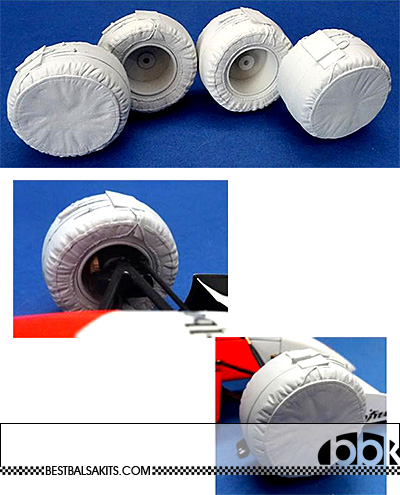 GF MODELS 1/20 HEAT BLANKET COVERED TIRES 4pcs 1993-NOW