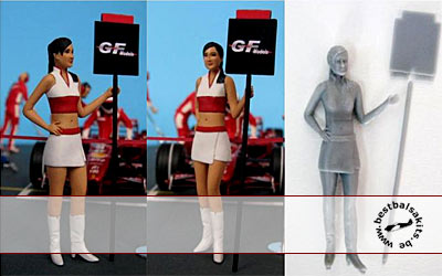 GF MODELS 1/24 MODERN PIT GIRL HOLDING POST