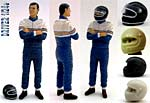GF MODELS 1/24 PORSCHE 956 962 DRIVER ARMS CROSSED for TAMIYA