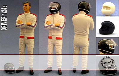 GF MODELS 1/24 PORSCHE 936 DRIVER FIGURE ARMS CROSSED for TAMIYA