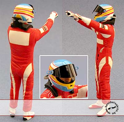 GF MODELS 1/24 1/24 ALONSO F10 DRIVER FIGURE VICTORY SIGN REVELL