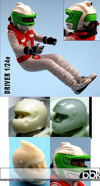 GF MODELS 1/24 MODERN DTM DRIVER FIGURE for TAMIYA BELKITS REVELL