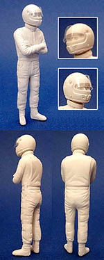 GF MODELS 1/24 VILLENEUVE DRIVER FIGURE for PROTAR 126C2