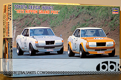HASEGAWA 1/24 TOYOTA CELICA 1600 1972 NIPPON GP TACHI TAKESHITA