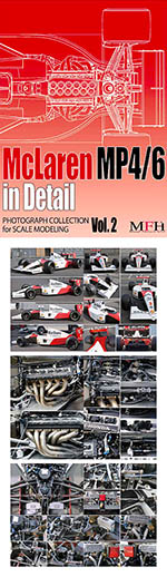 HIRO 1/12 - 1/20 McLAREN MP4/6 '91 '92 DETAIL PHOTO REFERENCE