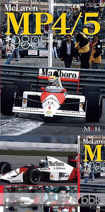 JOE HONDA NA McLAREN MP 4/5 SENNA 1989 REF PICTURE BOOK