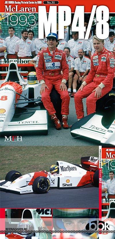 JOE HONDA NA McLAREN MP 4/8 SENNA 1993 REF PICTURE BOOK