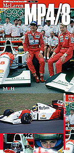 JOE HONDA NA McLAREN MP 4/8 SENNA 1993 REF PICTURE BOOK