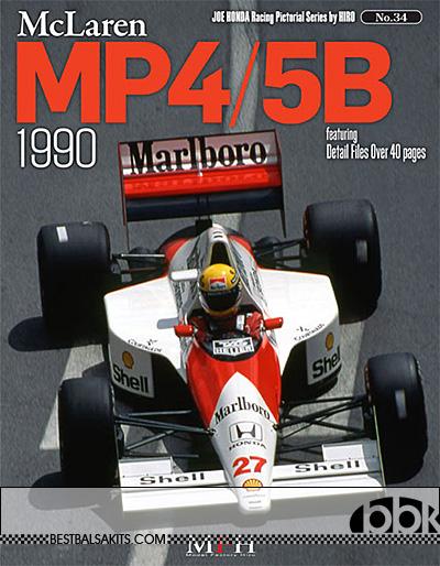JOE HONDA NA 1990 McLAREN MP4/5B SENNA REF PICTURE BOOK
