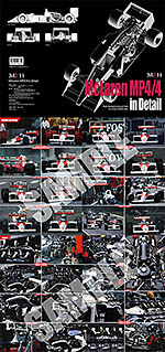 HIRO na McLAREN MP4/4 1988 IN DETAIL HIRO 1/12 SENNA PROST