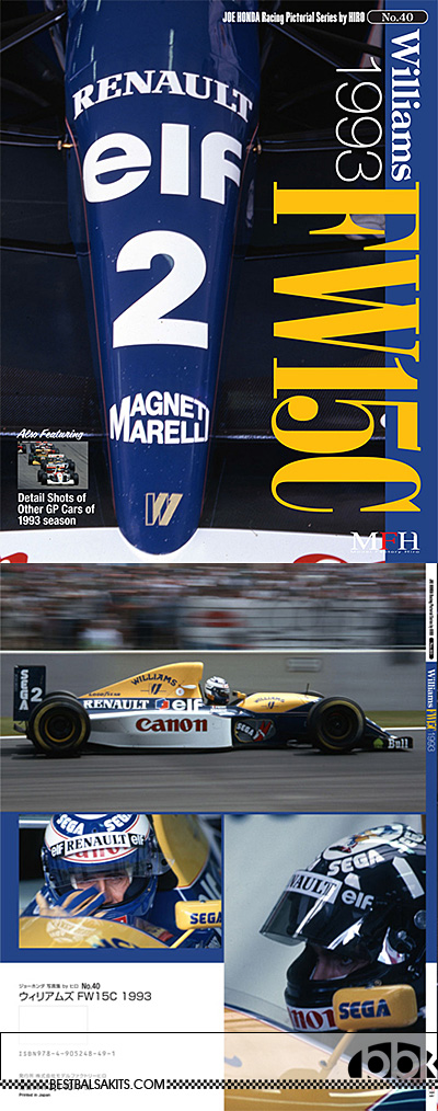 JOE HONDA na  WILLIAMS FW15C 1993 REF PICTURE BOOK
