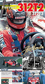 JOE HONDA 1/12 REF PICTURE BOOK FERRARI 312T2 312T3 '77-'78