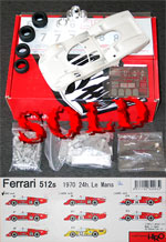 HIRO 1/24 FERRARI 512S LONG TAIL 24Hr LE MANS '70