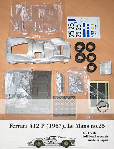 HIRO 1/24 FERRARI 412P LM 1967 #25 NART RODRIQUEZ BAGHETTI