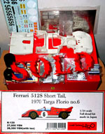 HIRO 1/24 FERRARI 512S SHORT TAIL TARGO FLORIO '70