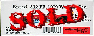 HIRO 1/24 FERRARI 312PB #85 1972 WATKINS GLEN CKX ANDRETTI