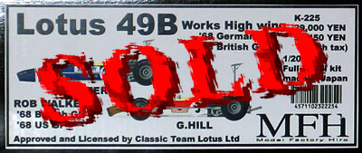 HIRO 1/20 LOTUS 49B MKII Works High Wing BG US WALKER GB D H