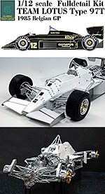 HIRO 1/12 LOTUS 97T BELGIUM GP SENNA FULL DETAIL MODEL