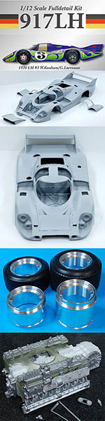HIRO 1/12 PORSCHE 917 LH LONG HECK HIPPY CAR LE MANS 1970