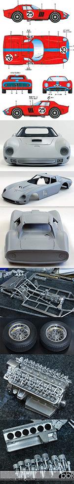 HIRO 1/12 1/12 FERRARI 250 GTO 250GTO 1964 SARTHE 24Hrs #25