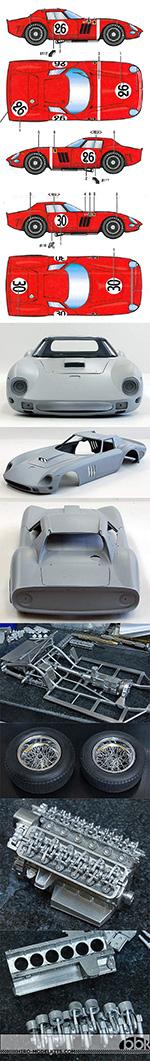 HIRO 1/12 FERRARI 250 GTO 250GTO 1964 SARTHE 24Hrs #26