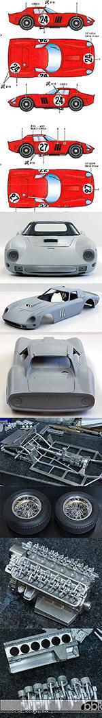 HIRO 1/12 FERRARI 250 GTO 1964 SARTHE 24Hrs #27 #24