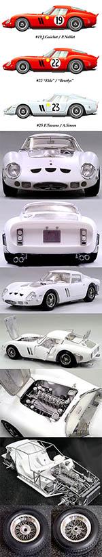 HIRO 1/12 FERRARI GTO 250 GTO250 1962 LE MANS 24Hrs