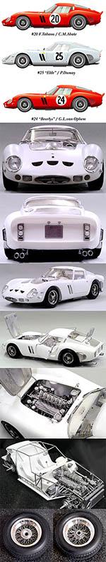 HIRO 1/12 FERRARI GTO 250 GTO250 1963 LE MANS 24Hrs