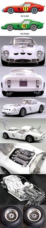 HIRO 1/12 1/12 FERRARI GTO 250 GTO250 1963 TOUTIST TROPHY
