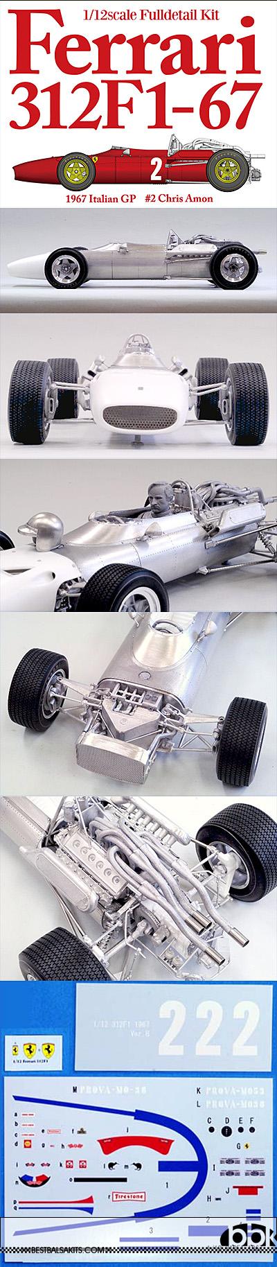 HIRO 1/12 FERRARI 312F1 1967 ITALIAN GP #2 AMON