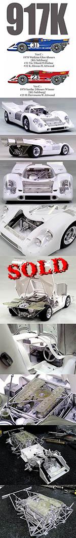 HIRO 1/12 PORSCHE 917K LE MANS 1970 TEAM SALZBURG #20 #21