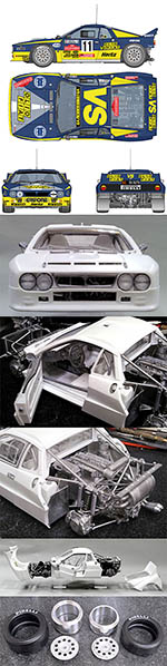 HIRO 1/12 LANCIA 037 H.F.GRIFONE SRL 1984 WRC SAN REMO #11
