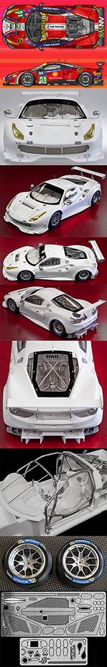 HIRO 1/12 1/12 FERRARI 488 GTE LE MANS '17 AF CORSA CURBSIDE