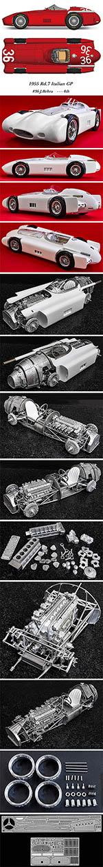 HIRO 1/12 MASERATI 250F STREAMLINER 1955 ITALIAN GP BEHRA