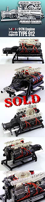 HIRO 1/12 PORSCHE 917K ENGINE MODEL STAND ALONE