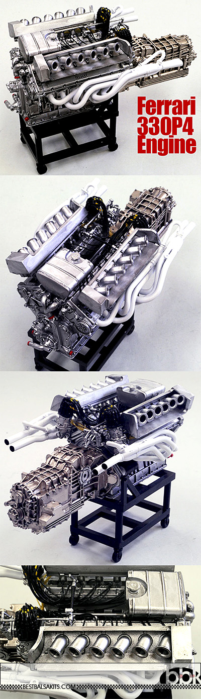 HIRO 1/12 FERRARI 330P4 ENGINE MODEL STAND ALONE