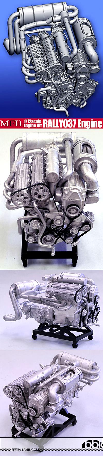 HIRO 1/12 LANCIA 037 ENGINE MODEL STAND ALONE