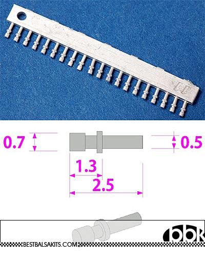 HIRO 1/12-1/18 1/12 - 1/18 WHITE METAL PUSH BUTTON 60PCS