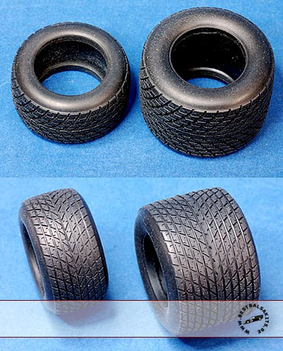 HIRO 1/20 1/20 RUBBER FULL WETS GY TYRE SET 80's JS11 FW07